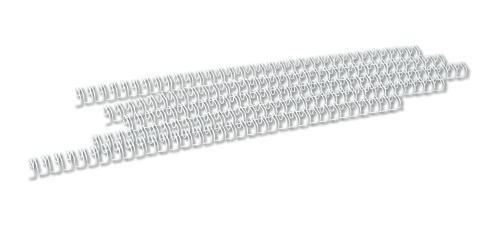 Spire metalice  6,4mm, pas 3:1, 100 buc/cutie, OPUS - alb