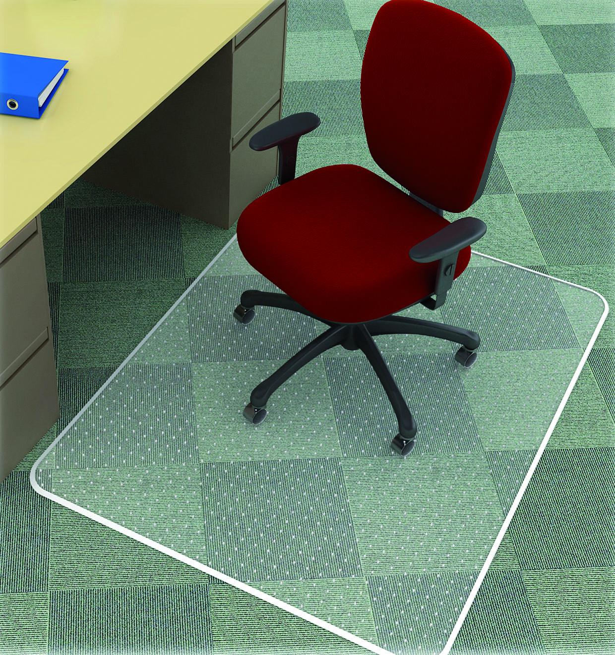 Covoras PVC transparent, protectie mocheta, 150 x 120cm - forma dreptunghiulara, Q-Connect