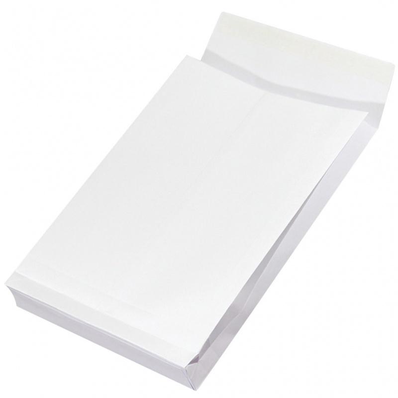 Plic C4 (229x324mm), cu burduf de 38mm, lipire siliconica, 250 buc/cutie, Office Products - alb