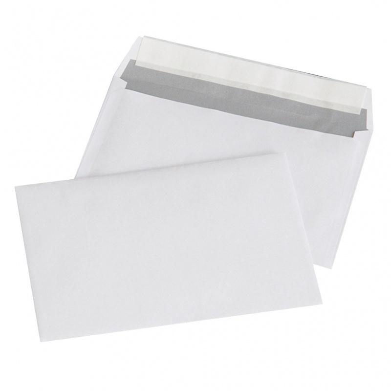 Plic C6 (114x162mm), lipire siliconica, 1000 buc/cutie, Office Products - alb